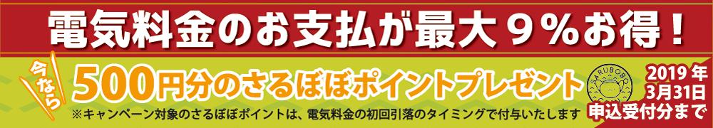 500円分のさるぼぼポイントプレゼントキャンペーン
